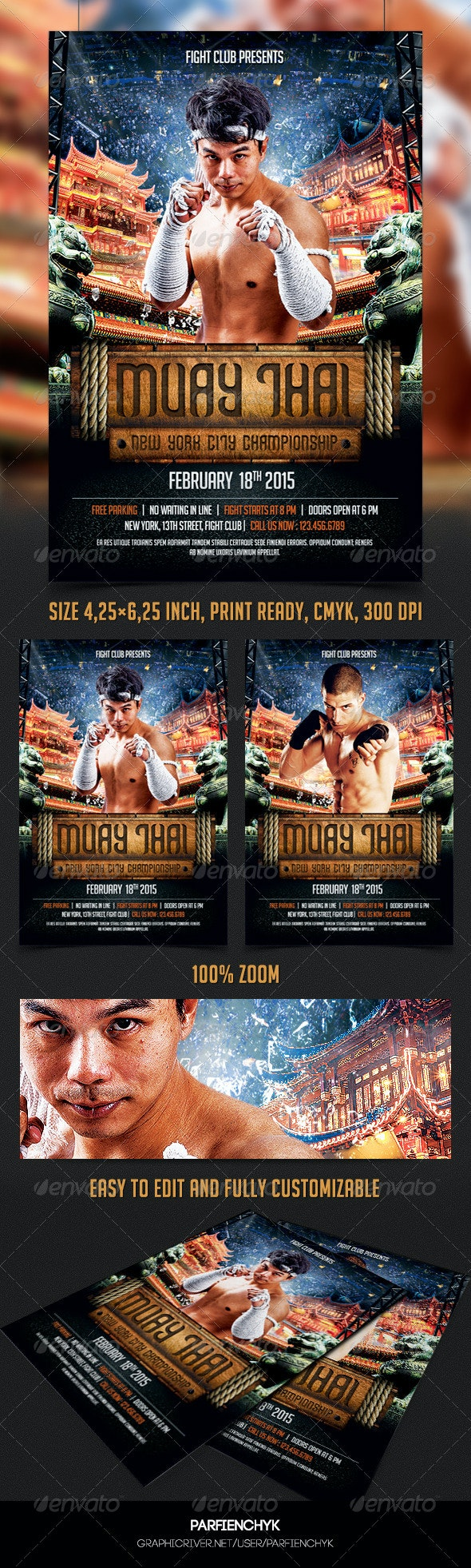 Muay Thai Flyer Template - Sports Events