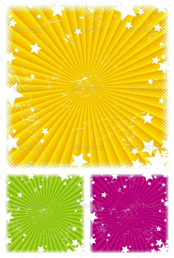 Abstract Vector Background with Stars - Backgrounds Decorative