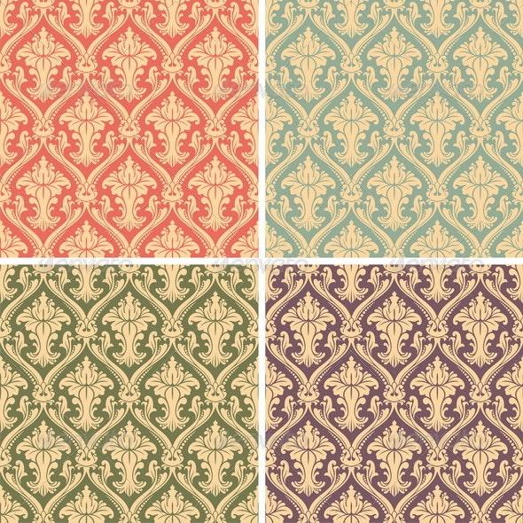 Vector Damask Pattern - Backgrounds Decorative