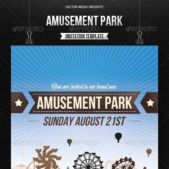Amusement Park - Invitation
