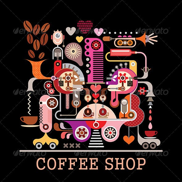 Coffee Shop Vector Illustration