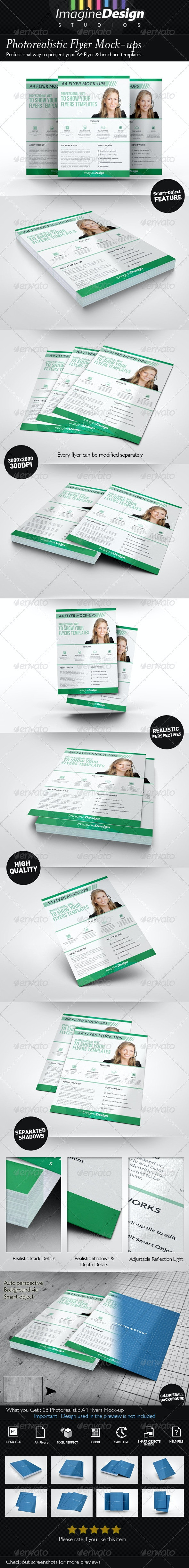 Photorealistic Flyer Mock-ups - Flyers Print