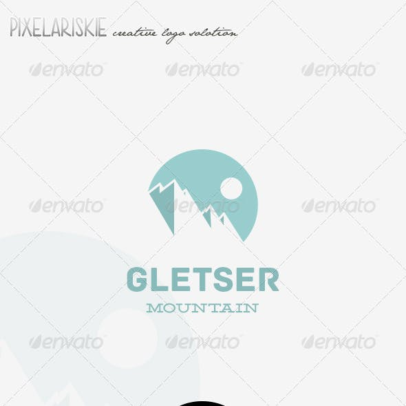 Gletser Mountain Logo