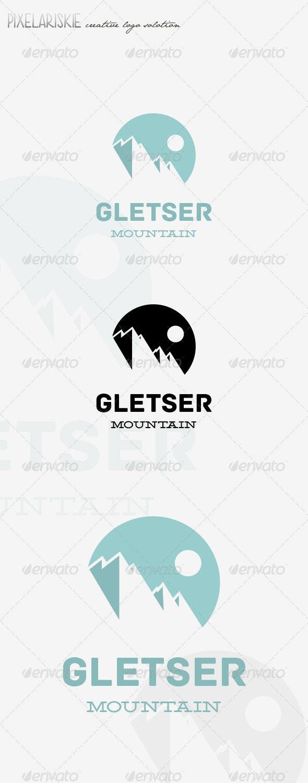 Gletser Mountain Logo - Nature Logo Templates
