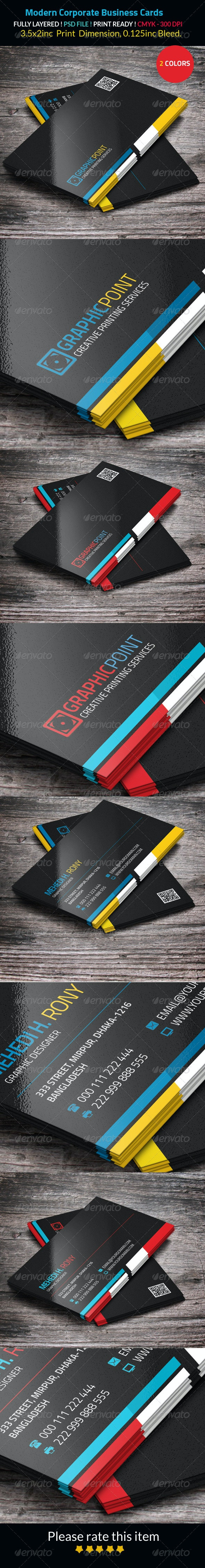 Modern Corporate Business Cards - Corporate Business Cards