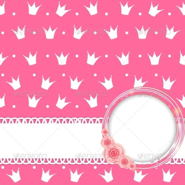 Princess Crown Background Vector Illustration - Patterns Decorative