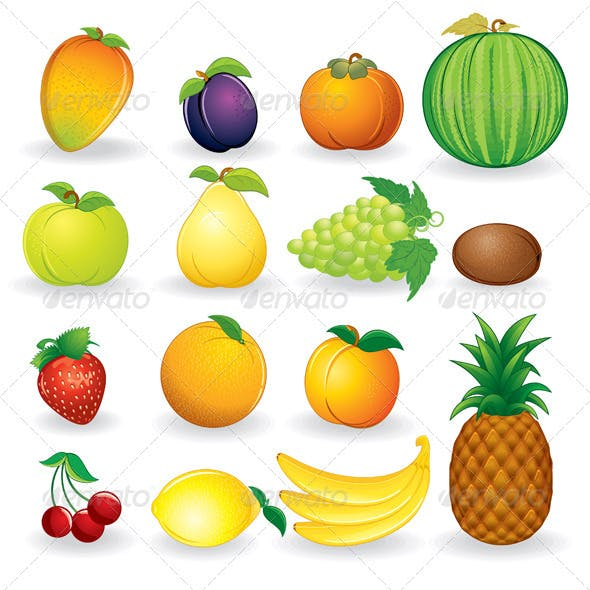 Fresh Fruits - Vector Collection
