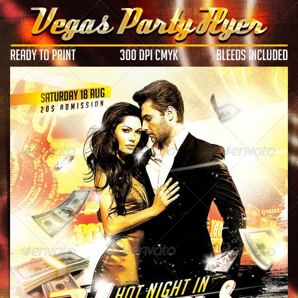 Vegas Party Flyer