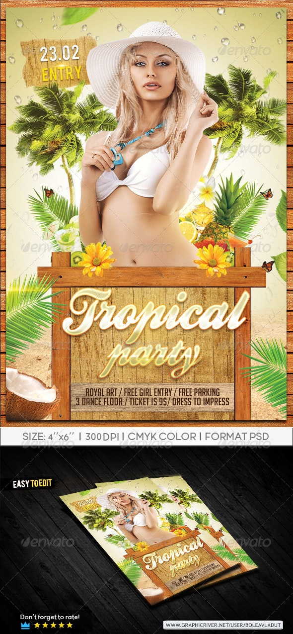 Tropical Summer Party - Clubs & Parties Events