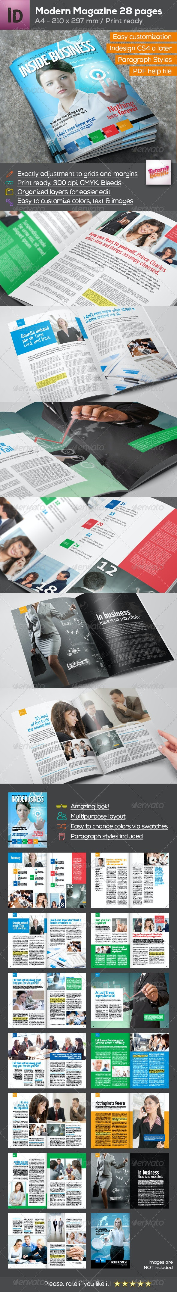 Business Magazine A4 - 28 pages - Magazines Print Templates