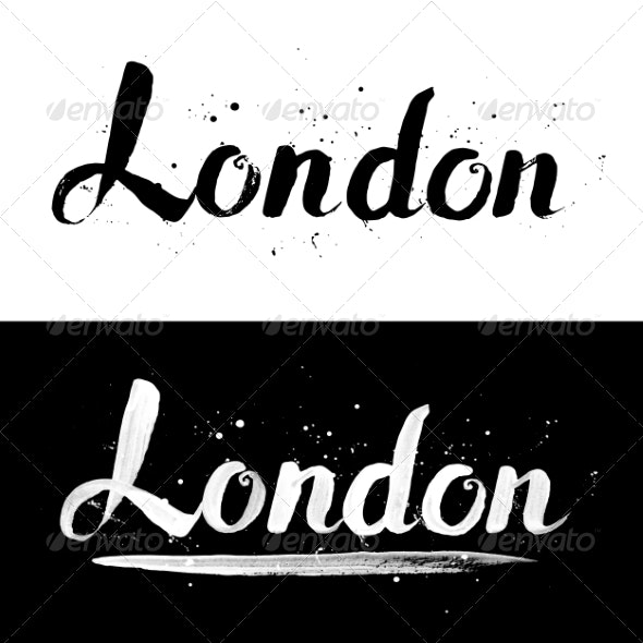 London Hand-Drawn Text - Travel Conceptual