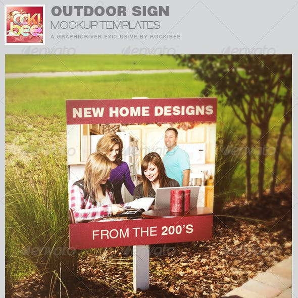 Outdoor Sign Mockup Templates