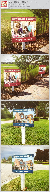 Outdoor Sign Mockup Templates - Signage Print