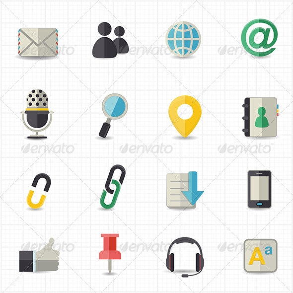 Communication and Internet Icons - Web Icons