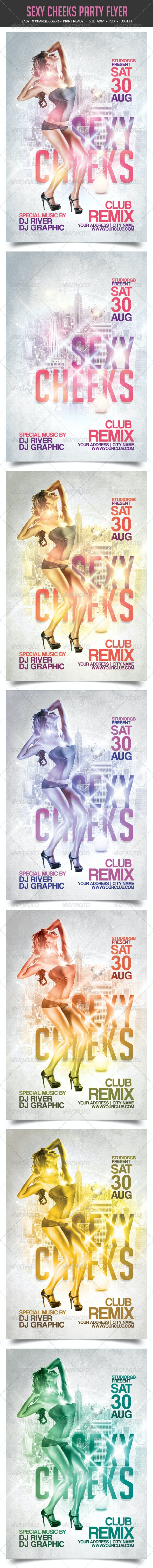 Sexy cheeks party flyer - Clubs & Parties Events