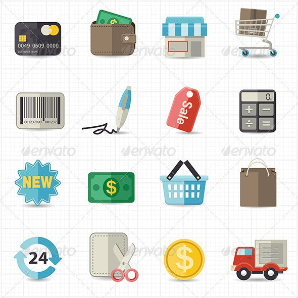 Business Finance and Shopping Icons - Business Icons