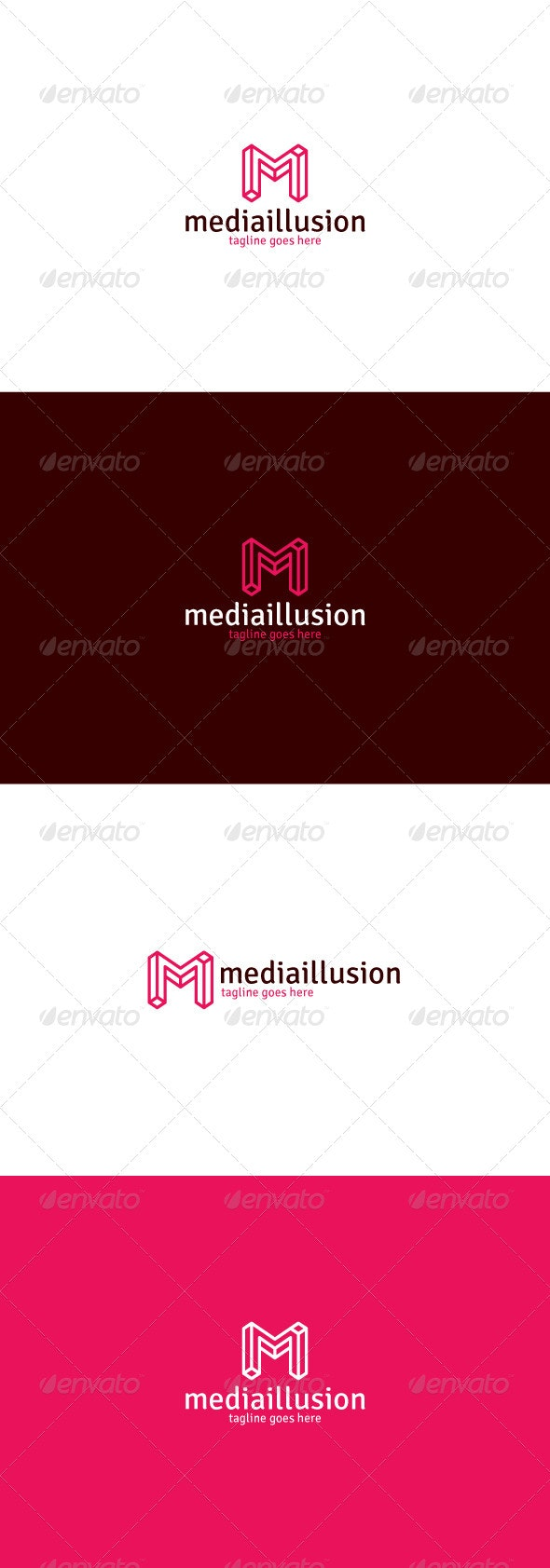 Media Illusion Logo — Letter M - Letters Logo Templates
