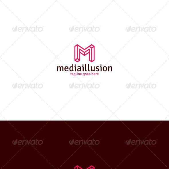 Media Illusion Logo — Letter M