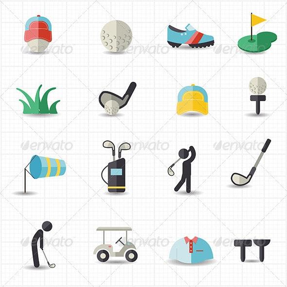 Golf Sport Icons
