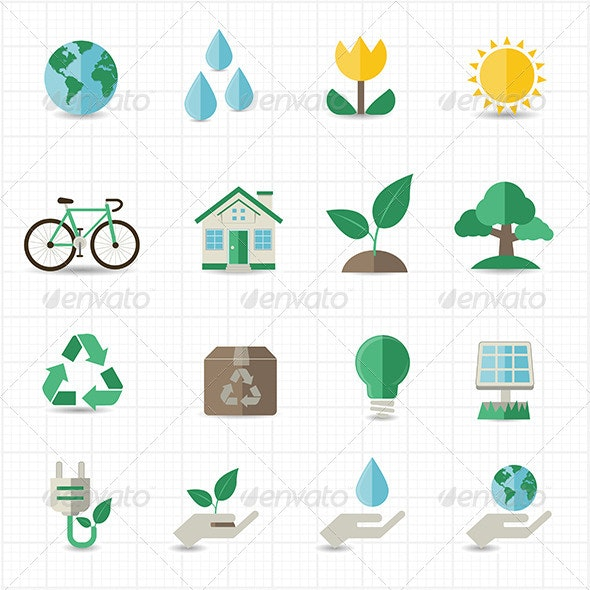 Green Energy Icons - Objects Icons