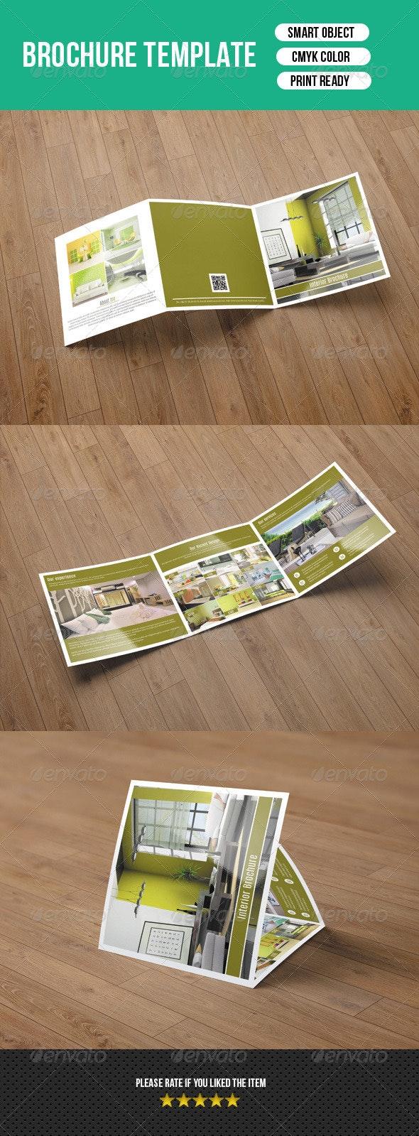Square Trifold Brochure Interior Design-V20 - Corporate Brochures