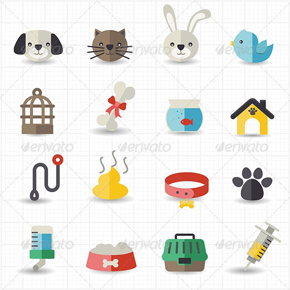 Pet Icons - Animals Characters