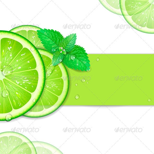Background of Lime - Borders Decorative