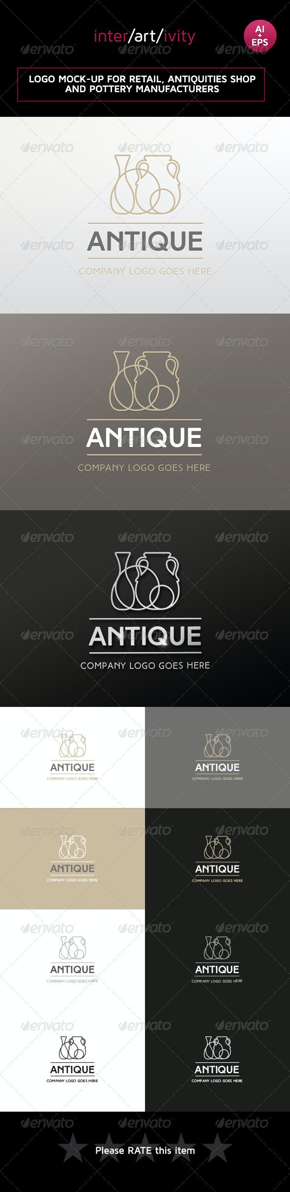 Logo design for antiques and retail - Objects Logo Templates