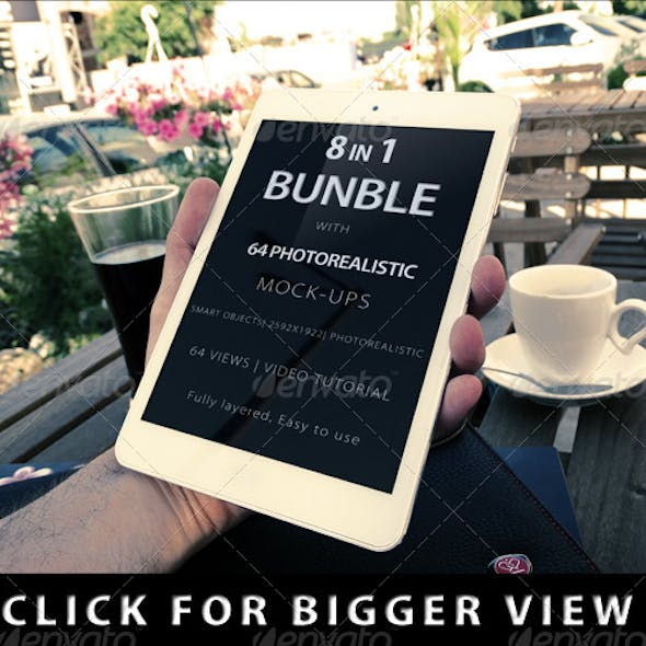 8 in 1 Bundle Realistic Screen with 64 Views