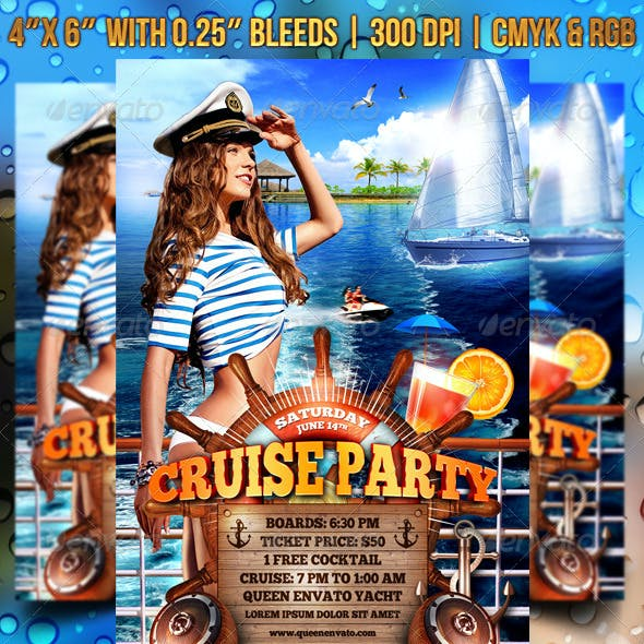 Cruise Party Flyer