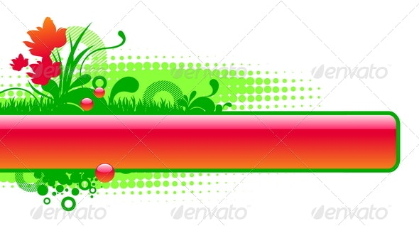 Vector Floral Glossy Frame - Decorative Vectors
