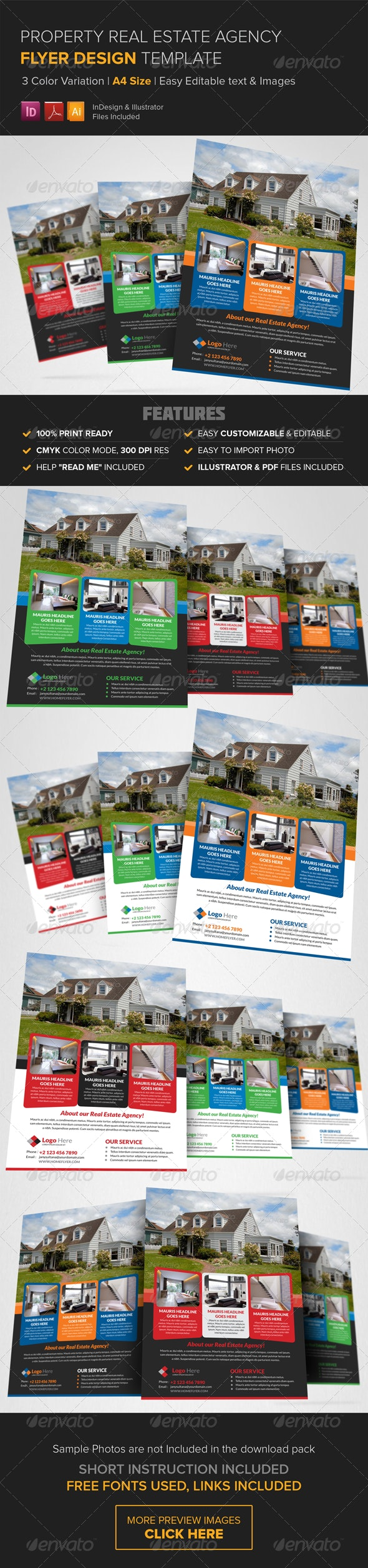 Property Real Estate Agency Flyer Template - Commerce Flyers