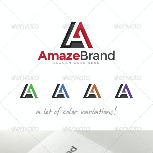 Amaze Brand Letter A Logo