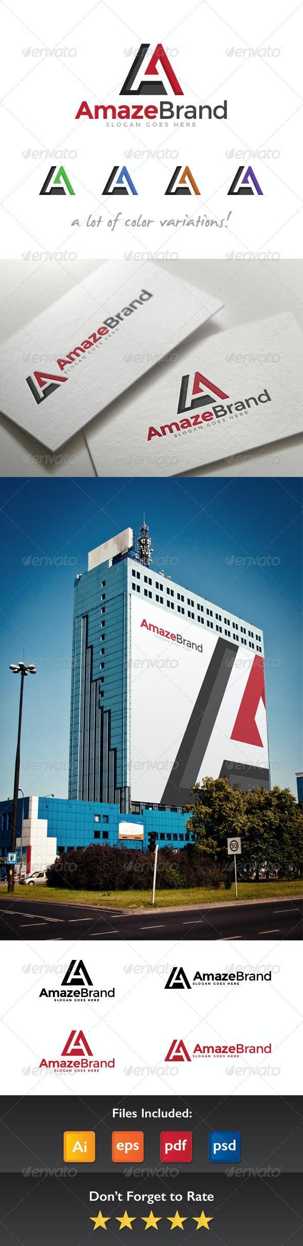 Amaze Brand Letter A Logo - Letters Logo Templates