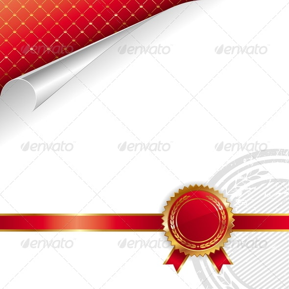 Golden-Red Royal Design with Seal of Quality - Decorative Vectors