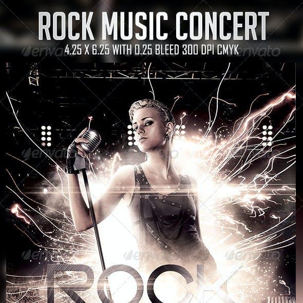 Rock Music Concert Flyer Template