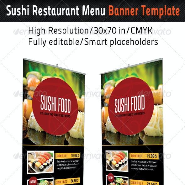 Sushi Restaurant Menu Banner Template 02