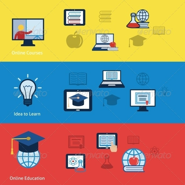 Online Education Banners - Industries Business