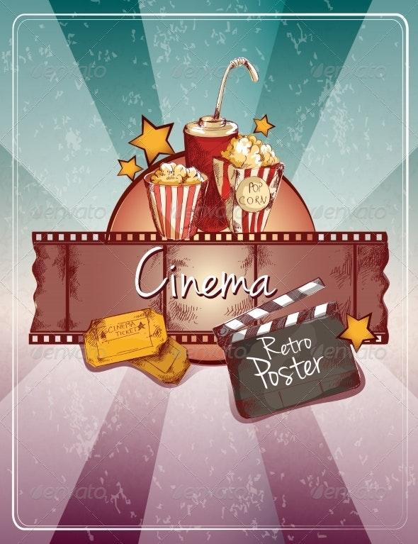 Sketch Cinema Poster - Media Technology