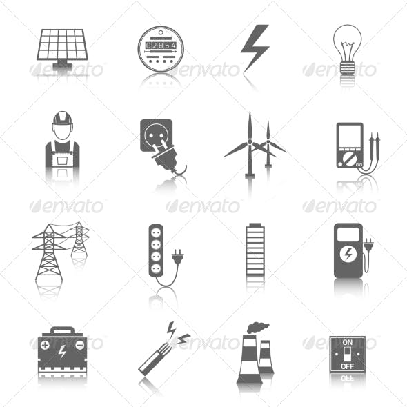 Set of Electricity Icons