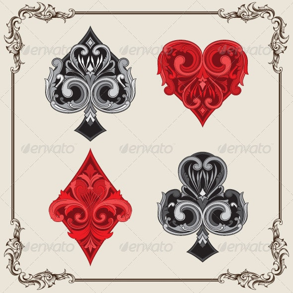 Playing Card Vintage Ornamental - Decorative Vectors
