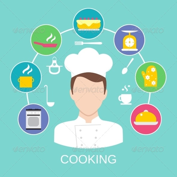 Cooking Concept Poster Print - Concepts Business