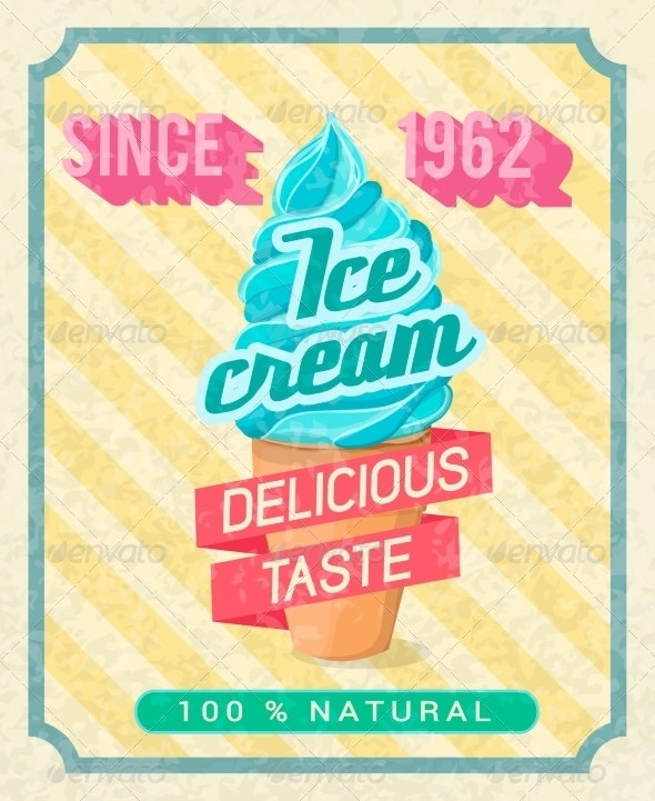 Ice-Cream Poster - Food Objects