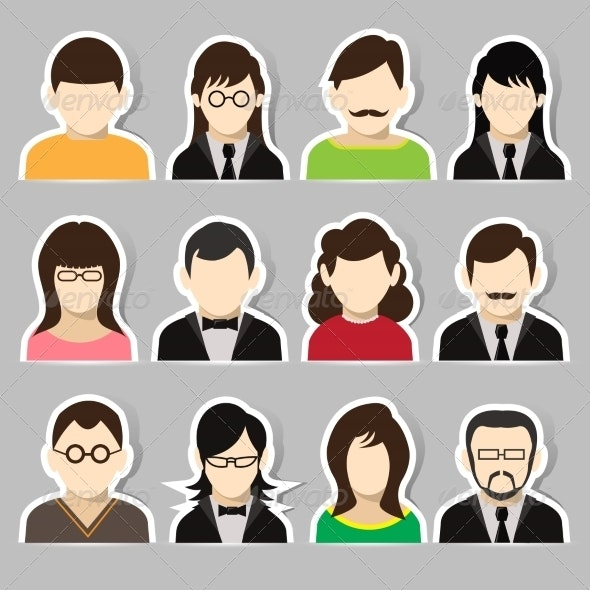 Avatar Sticker Set - People Characters