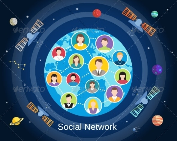 Global Social Network Concept - Concepts Business