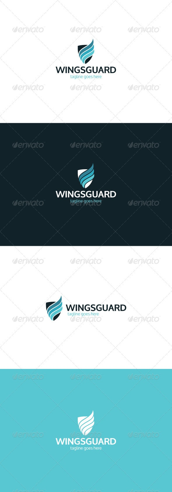 Wings Guard Logo - Vector Abstract
