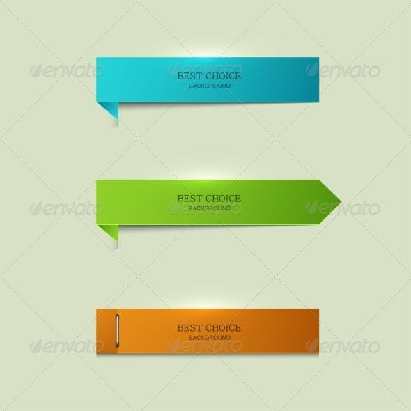 Modern Bookmarks Element Design