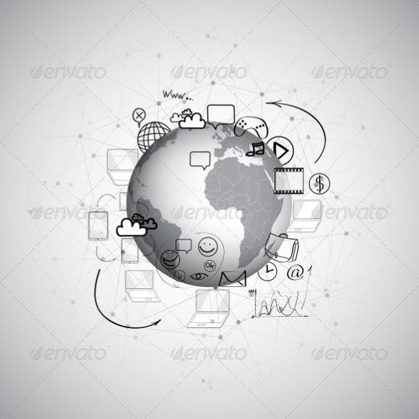 World Doodle Design - Backgrounds Business