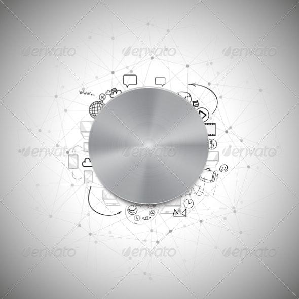 Power Doodle Button - Backgrounds Business