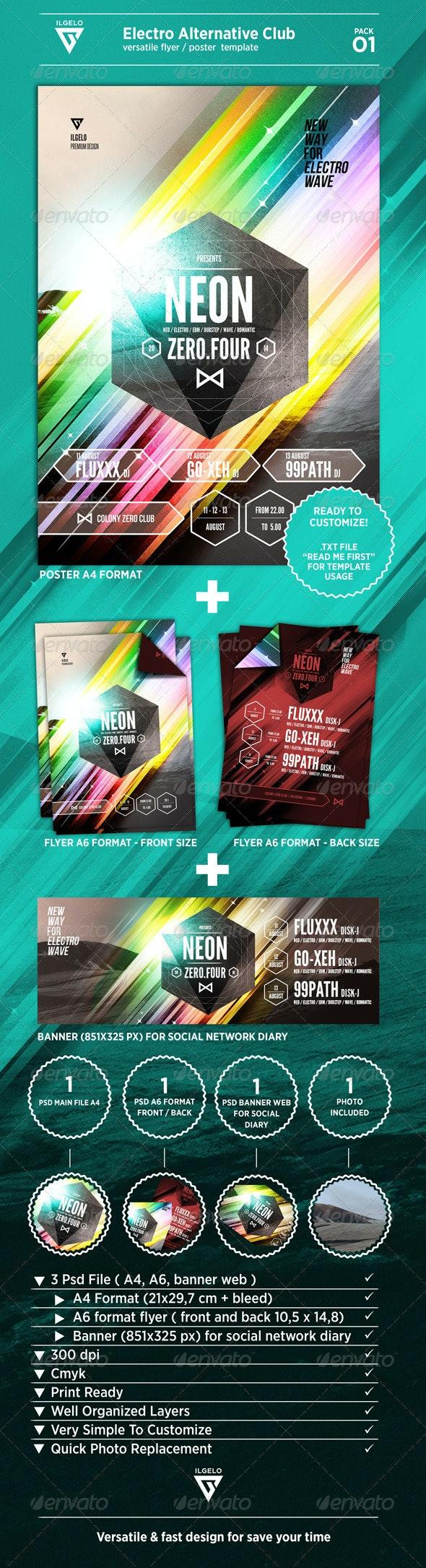 Electro Alternative Club / Poster Pack .01 - Print Templates